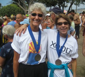 Susan Dawson-Cook and Judy Gillies - 2009 La Jolla Roughwater Swim