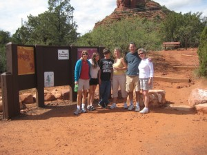Susan Dawson-Cook enjoying a hike in Sedona with her family