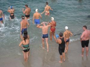 Practice swim in La Jolla Cove