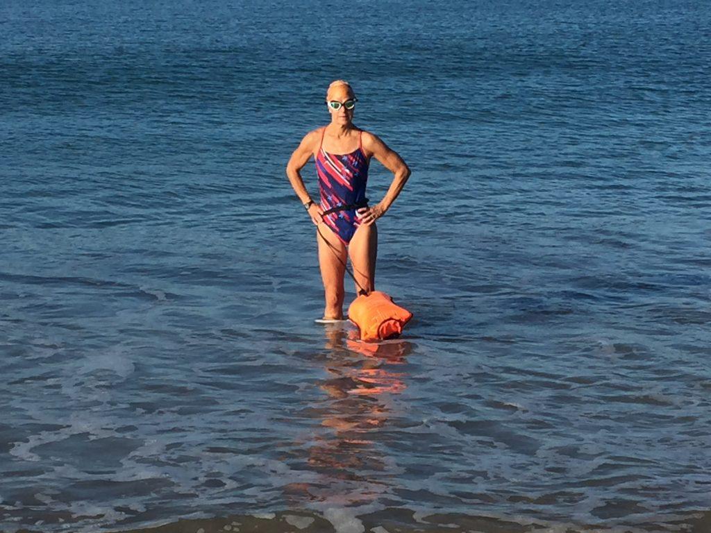 Preparing for Sea Swim